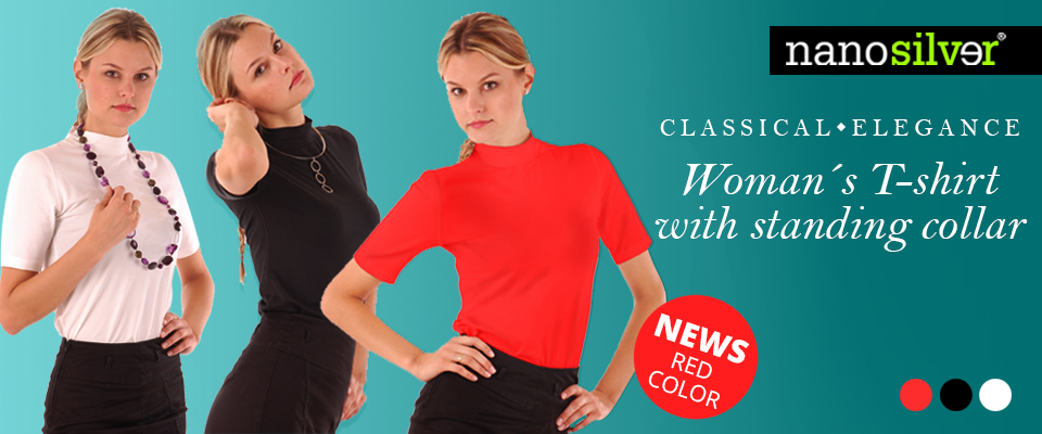 t-shirt-standing-collar-colors-black-white-red-classical-elegance-amazing-nanosilver-nanotechnology-sexy
