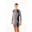 Man's thermal T-shirt nanosilver gray/black