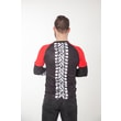 Biker T-shirt long sleeves black/red
