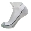 Ankle terry socks with molecules of silv white/gray