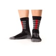 Summer trekking socks with molecules of silver gray-green gray-red