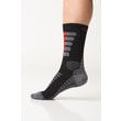 Summer trekking socks with molecules of silver gray-green