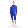 Man's thermal underpants 3/4 pants nanosilver blue