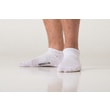 Ankle thin socks with molecules of silver white