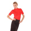 Woman´s T-shirt with standing collar red