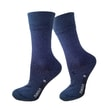 Formal socks with molecules of silver dark blue