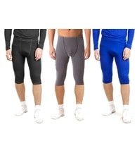 Man's thermal underpants 3/4 pants nanosilver