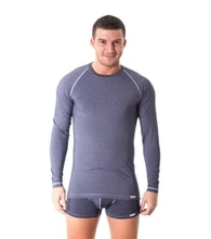 Man's T-shirt nanosilver CLASSIC DENIM - long sleeve, BLUE