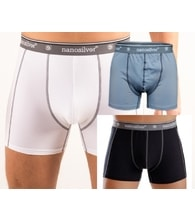 Men's boxer briefs with elastic nanosilver CLASSIC