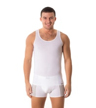Man's thermal Sleeveless top nanosilver - WHITE