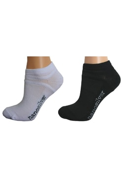 Ankle thin socks with molecules of silver