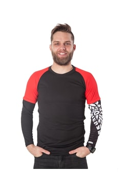 Biker T-shirt long sleeves