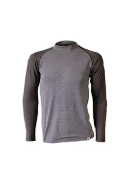 Man's thermal raglan T-shirt nanosilver