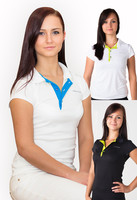 Detail Woman´s POLO SHIRT, T-shirt with collar nanosilver GOLF ACTIVE