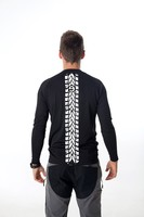 Detail Gents´ T-shirt with long sleeves nanosilver coolmax, imprinted MOTORCYCLE TRACK