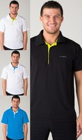 Detail Gents' POLO SHIRT, T-shirt with collar nanosilver GOLF ACTIVE